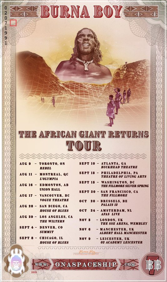 African Giant Tour
