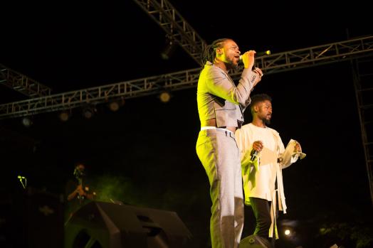 Johnny Drille & Adekunle Gold performing
