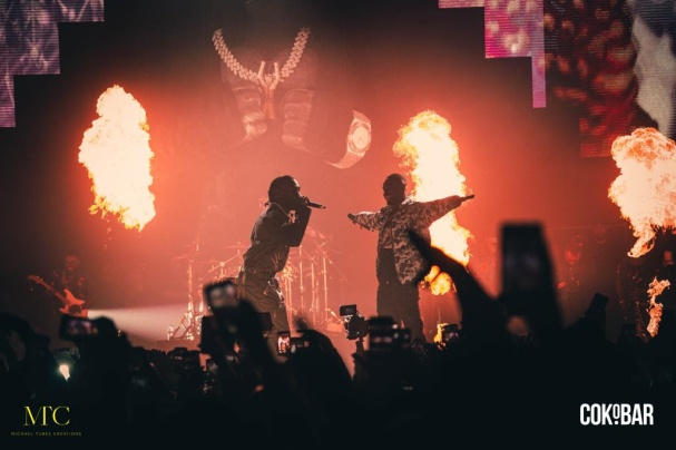 Burna Boy and Stormzy performing (Photo Credit: Michael Tubes Creations)