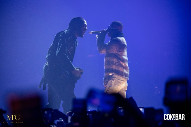 Burna Boy & Wizkid performing (Photo Credit: Michael Tubes Creations)