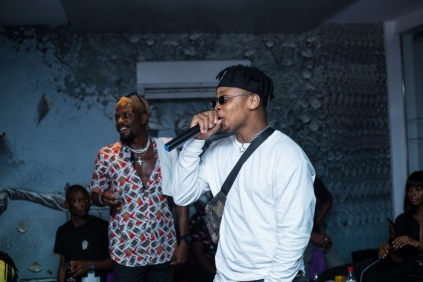 "Dapo Tuburna & Ycee performing ""Dada"" (Photo credit: Haastrup Event Photography)"