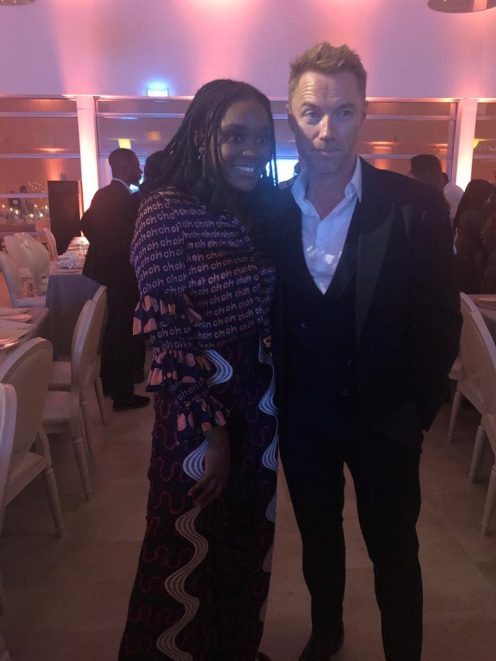 Falana with Ronan Keetinv after her incredible performance
