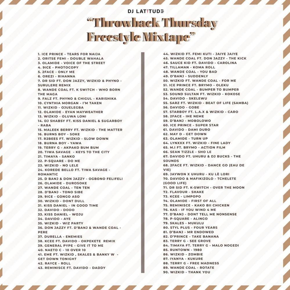 Throwback Thursday Mixtape tracklist