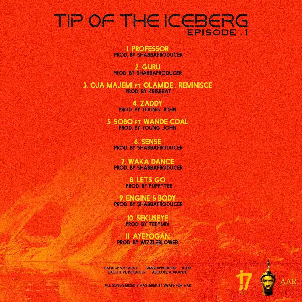 Tip of the Iceberg tracklist