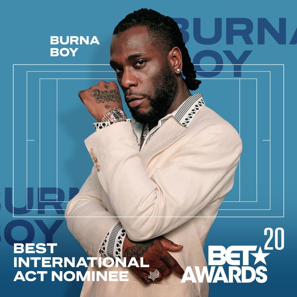 Burna Boy BET Awards Nomination
