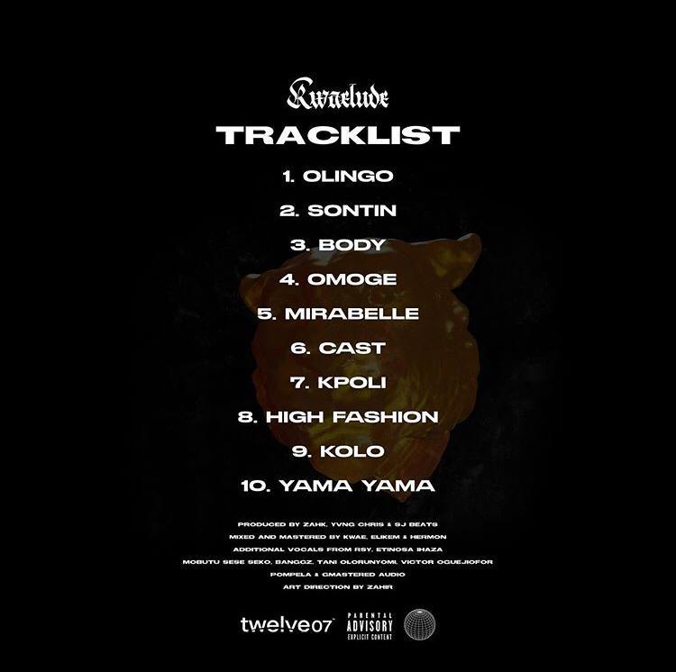 Kwaelude tracklist