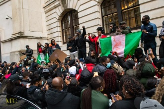 London, United Kingdom. 21st October 2020. Protests Against Police Killings In Nigeria after 12 days of anti-police demonstrating. Michael Tubi / Alamy Live News