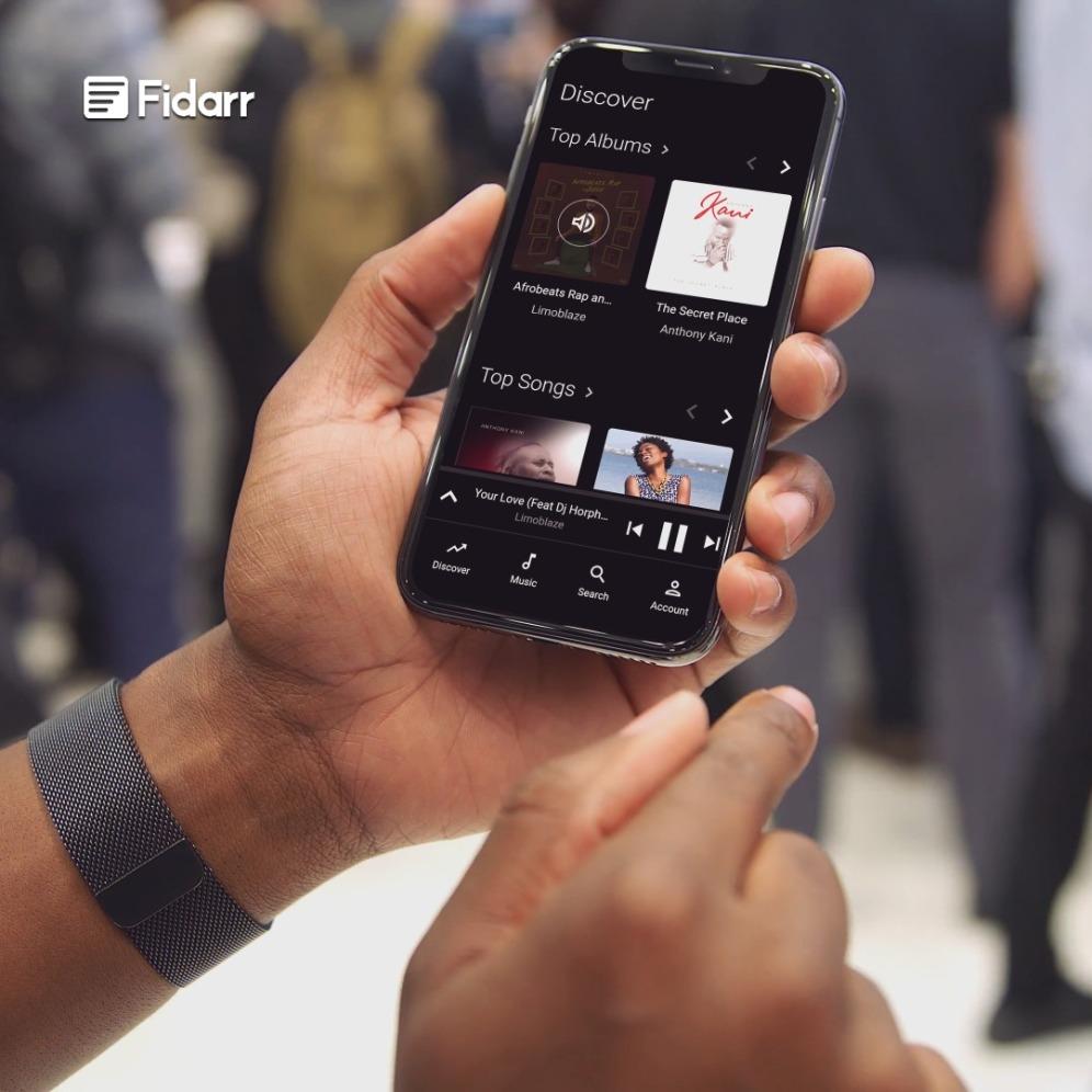 Fidarr Web on Mobile View